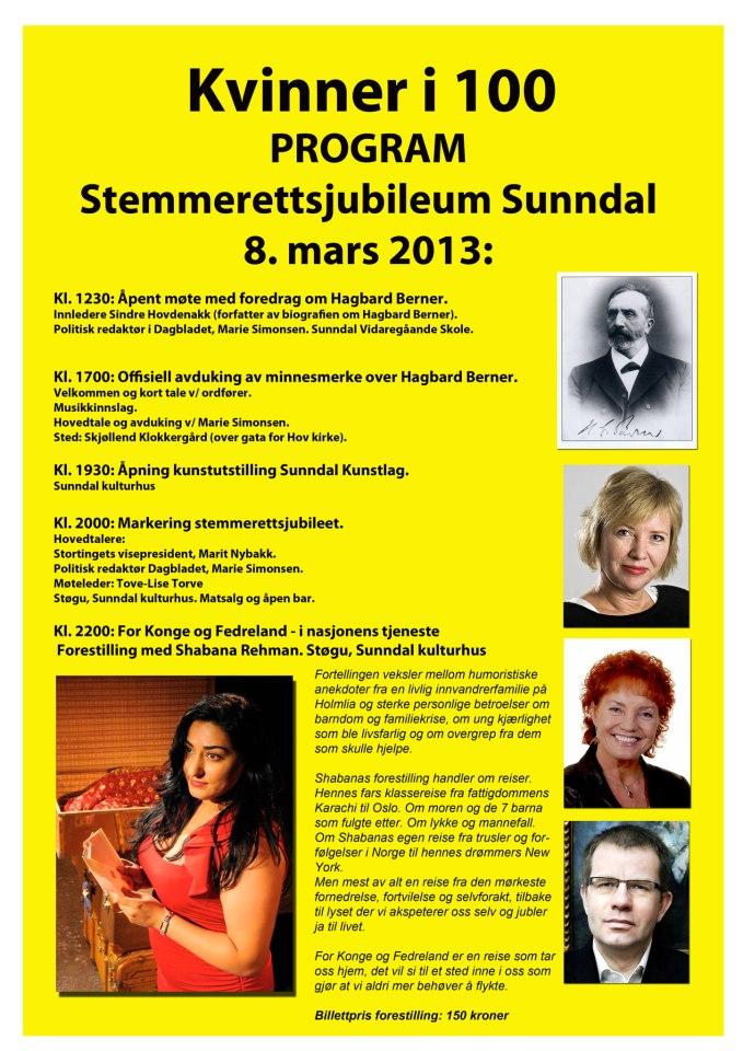 Program 8 mars 2013